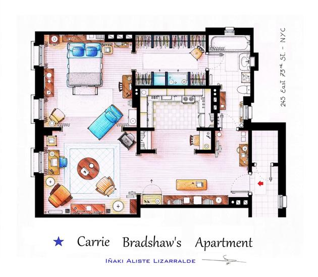 Famous tv show floor plans house nerd for Famous building blueprints