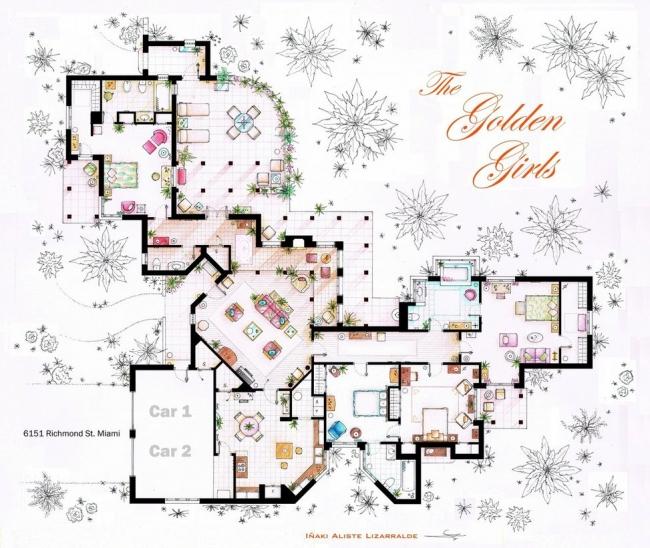 Famous TV Show Floor Plans   House Nerd