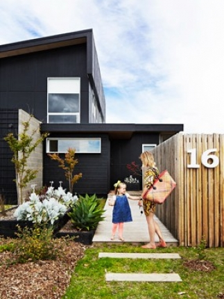 Add white trim and some greenery and voila a cool and not-too-expensive way to modernise your house. & 9 Ways to Boost Your Home\u0027s Kerb Appeal | House Nerd