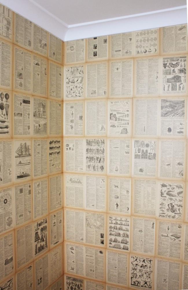 Easy DIY Book Page Wallpaper